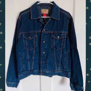 Mossimo Supply Medium Dark Blue Denim Jean Jacket